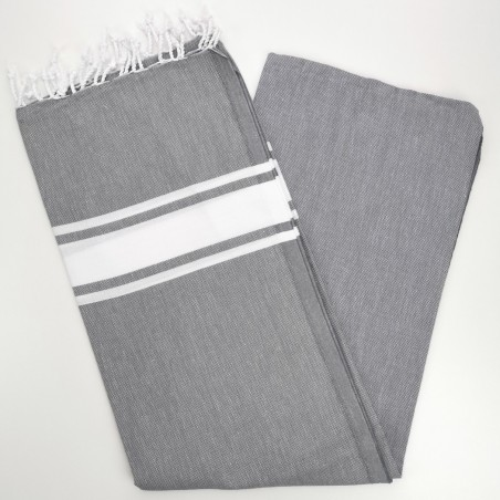 Fouta towel classic Sea dark grey