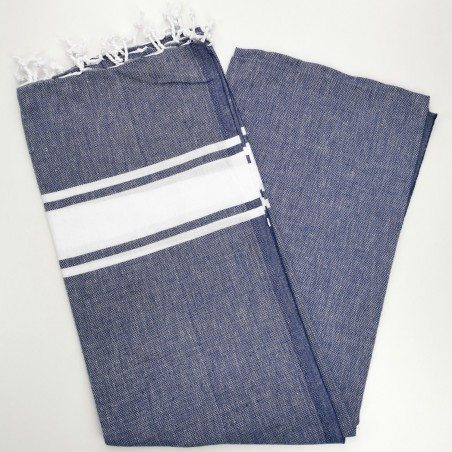 Fouta towel classic Sea navy blue