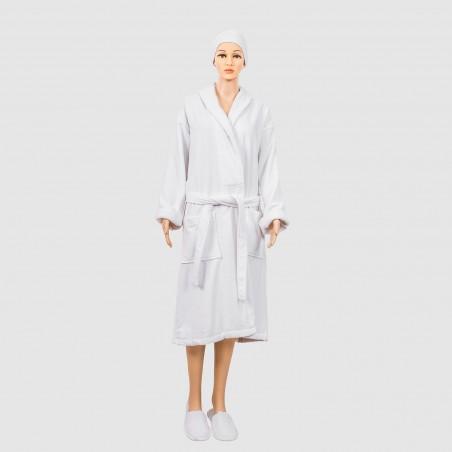Peignoir coton velours unisexe pour hotel et spa luxe