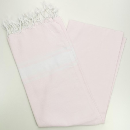Fouta towel classic Sea pale pink
