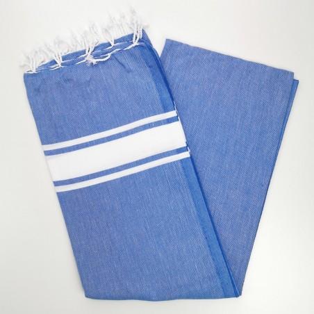 Fouta towel classic Sea royal blue
