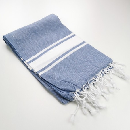 Fouta classique Sea bleu bleuet