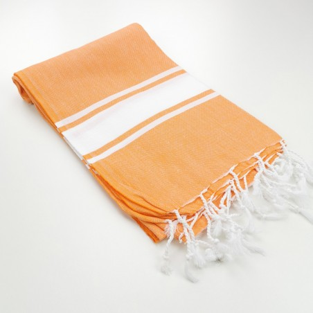 Fouta classique Sea bleu orange