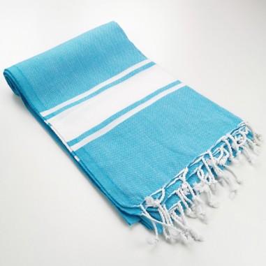 Fouta classique Sea bleu turquoise