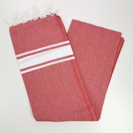 Fouta towel classic Sea red