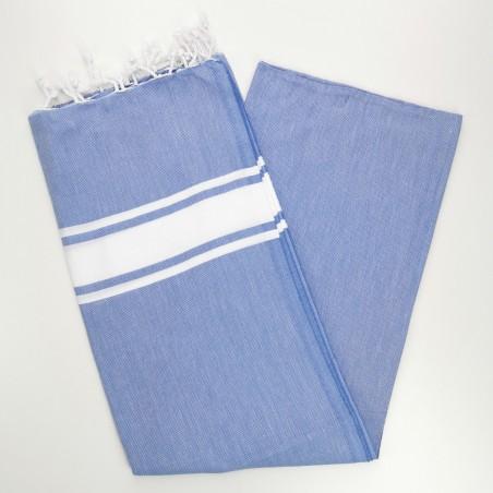 Fouta towel classic Sea lavender blue