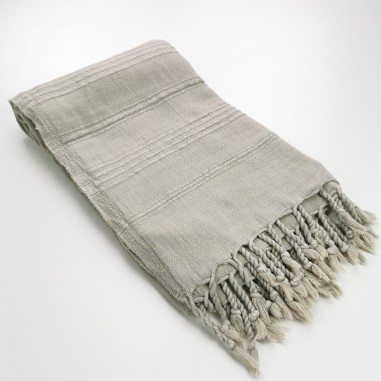 Fouta stonewashed beige coffee