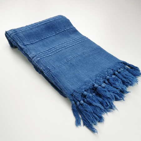Fouta stonewashed royal blue