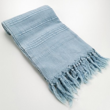 Fouta stonewashed grey blue