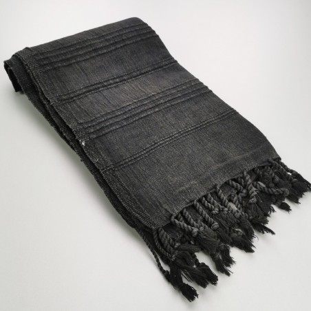 Fouta stonewashed black