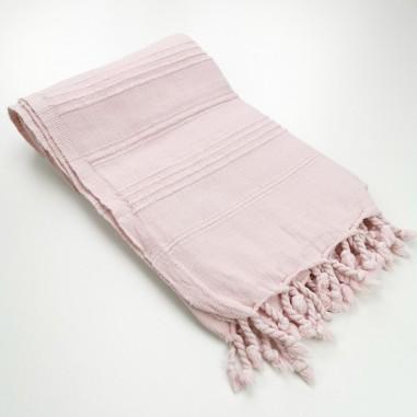 Fouta stonewashed pink
