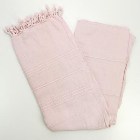 stonewashed Turkish peshtemal towel pink
