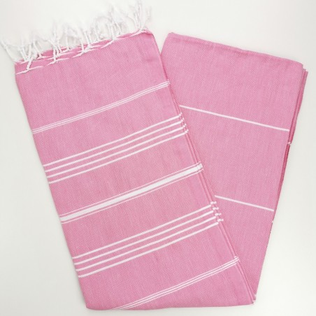 candy pink turkish towel