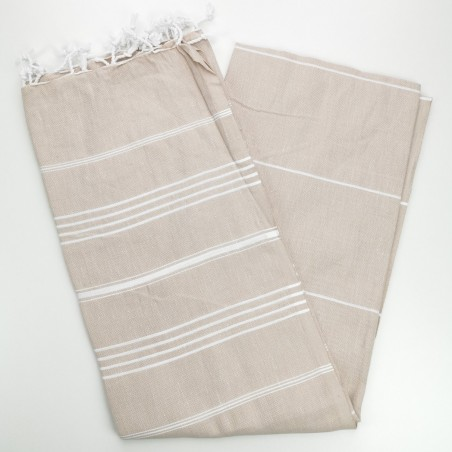 beige turkish towel