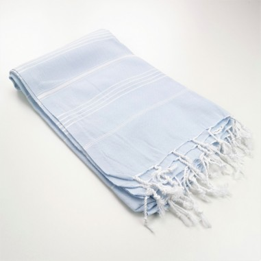 sky blue turkish peshtemal towel