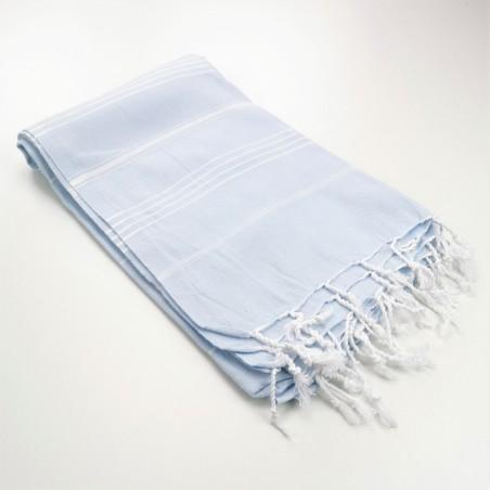 sky blue turkish peshtemal towel