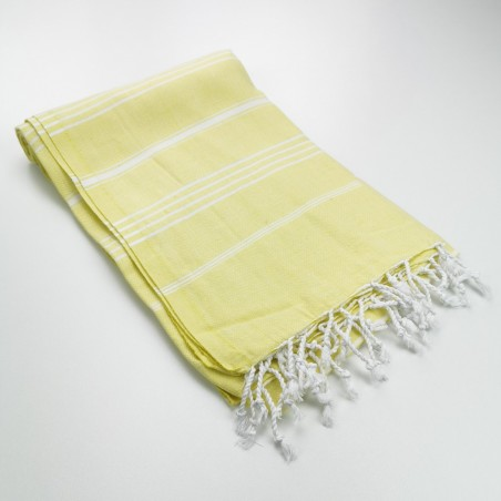 Turkish peshtemal towel lemon yellow