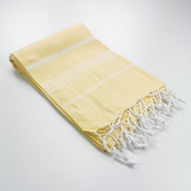 Turkish peshtemal towel pastel yellow