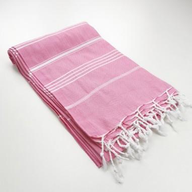 Turkish peshtemal towel candy pink