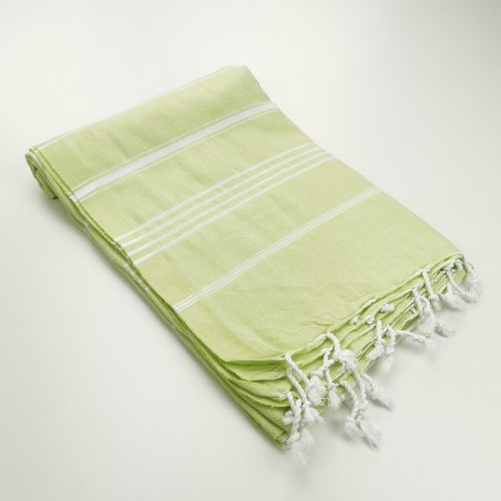 Turkish peshtemal towel lime green