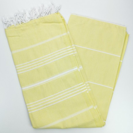 yellow turkish towel
