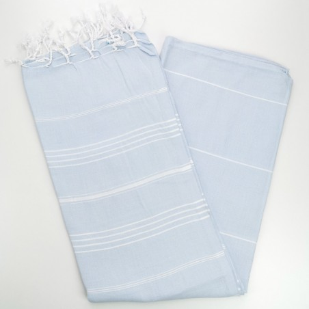 sky blue turkish towel