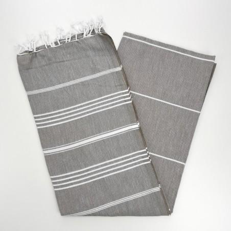 taupe brown turkish towel