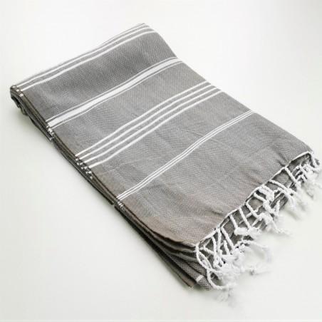 taupe brown turkish peshtemal towel