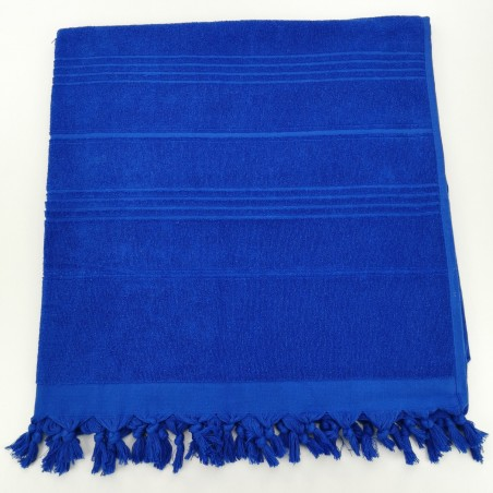 Terry Turkish beach towel solid royal blue