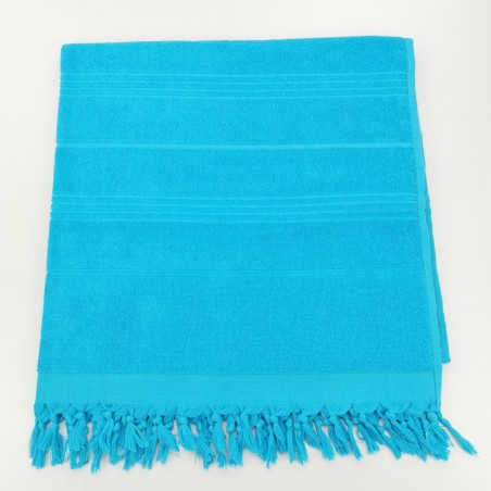 Terry Turkish towel solid turquoise