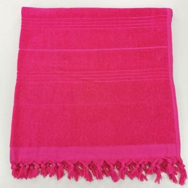 Terry Turkish beach towel solid fuchsia