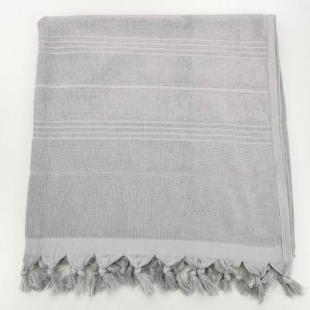 Terry beach towel plain grey