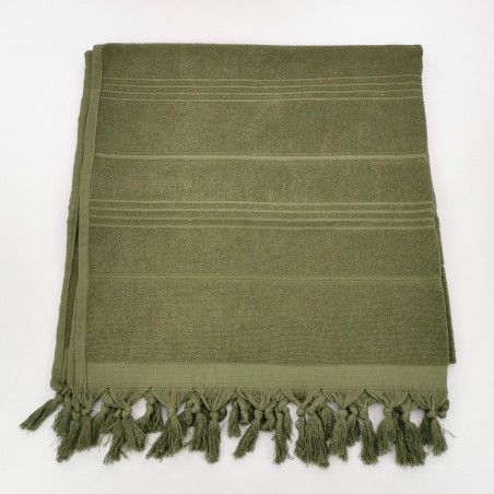 Terry Turkish beach towel solid khaki