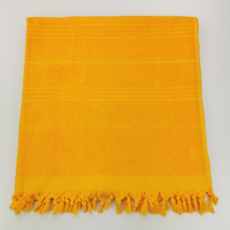 Terry Turkish beach towel solid tangerine