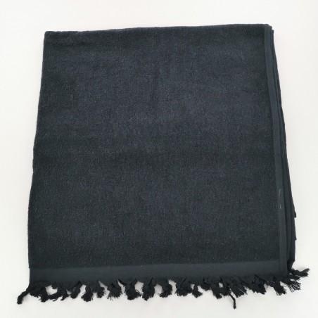 Terry Turkish towel Sultan monocolor black