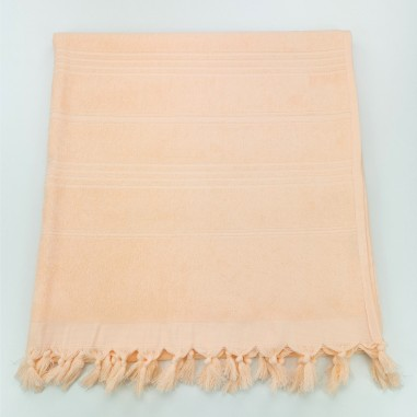 Terry beach towel solid salmon