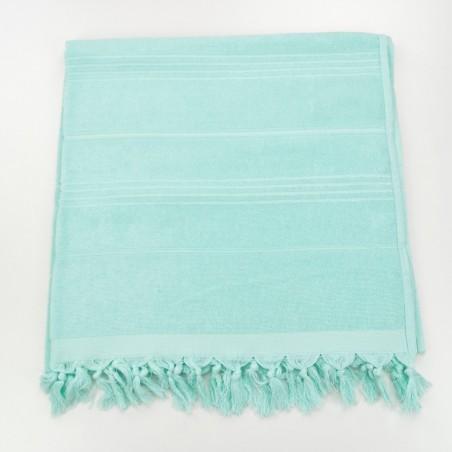 Terry Turkish beach towel solid mint