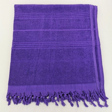 Terry beach towel solid indigo