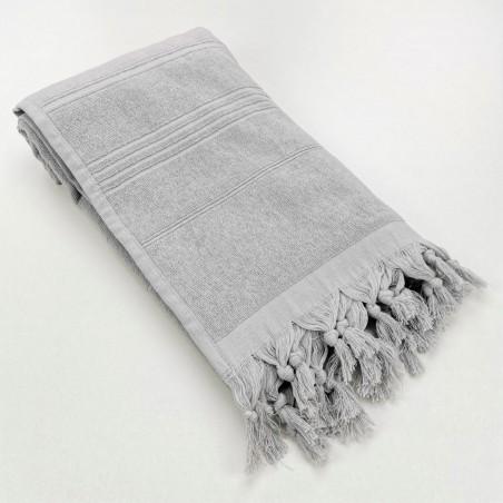 Terry Turkish towel Sultan monocolor light grey