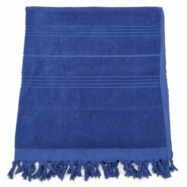Terry Turkish beach towel solid navy