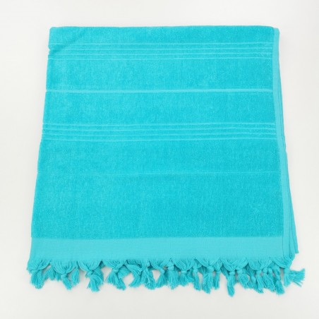 Terry beach towel solid dark cyan
