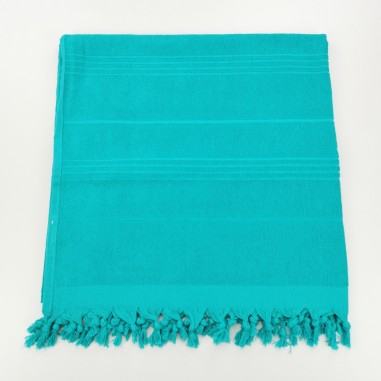 Terry beach towel solid medium spring green