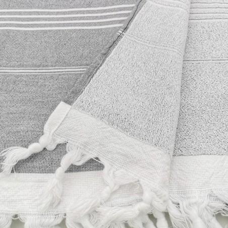 Terry Turkish towel dark grey