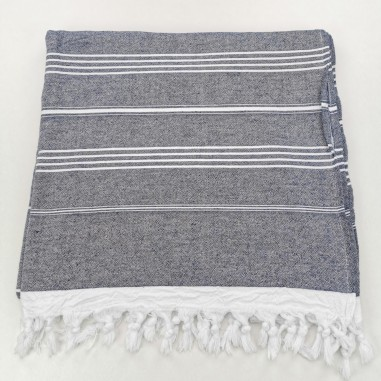 Terry Turkish towel navy