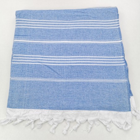 Terry Turkish towel royal blue