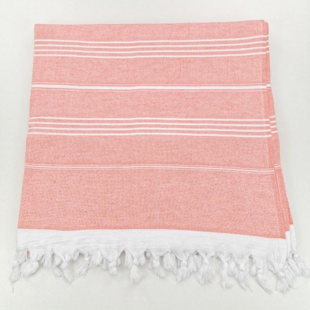 Terry Turkish towel coral