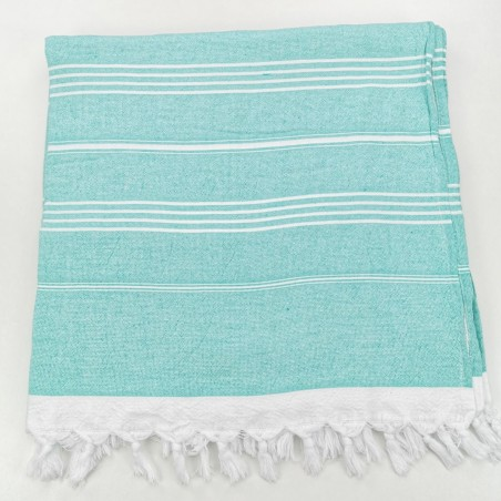 Terry Turkish towel medium green