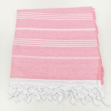 Terry Turkish towel pink