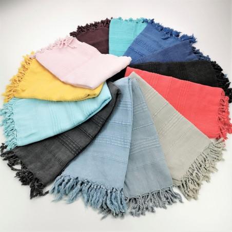 Turkish towels stonewashed thick stitched stripes wholesale