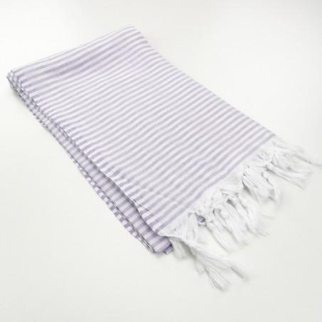 Turkish pareo towel fine stripes lilac